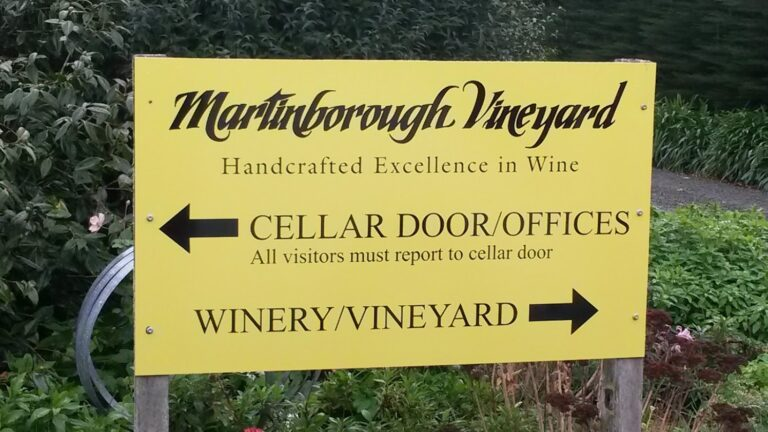 martinborough vineyard sign
